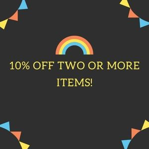 10% Off Two or More Items! 🌈